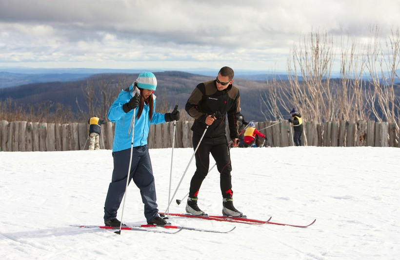Skiing at Lake Mountain